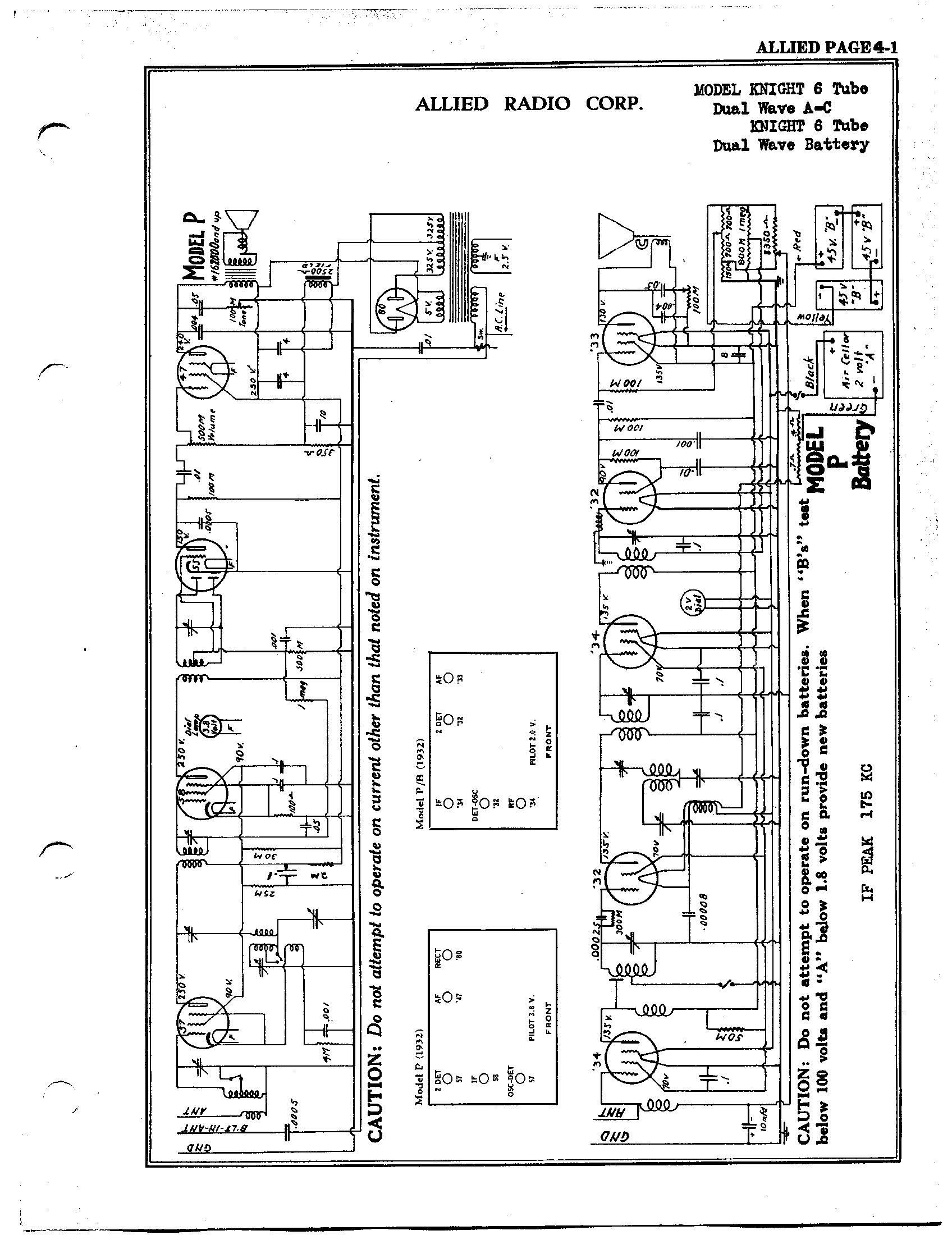 Allied Radio Corp Knight 6 Tube