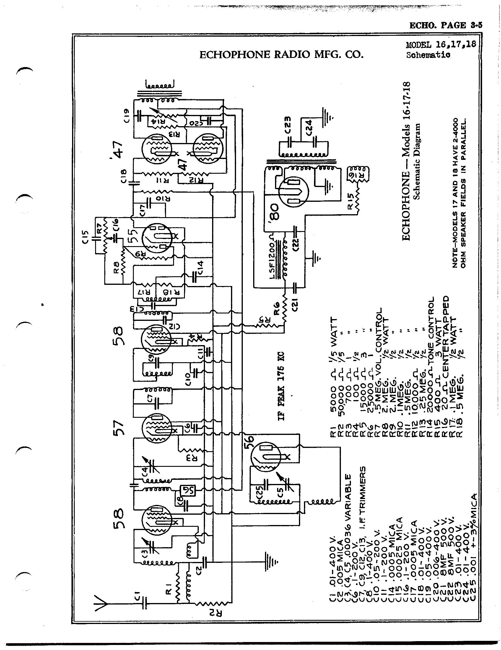 Echophone Radio Corp 17
