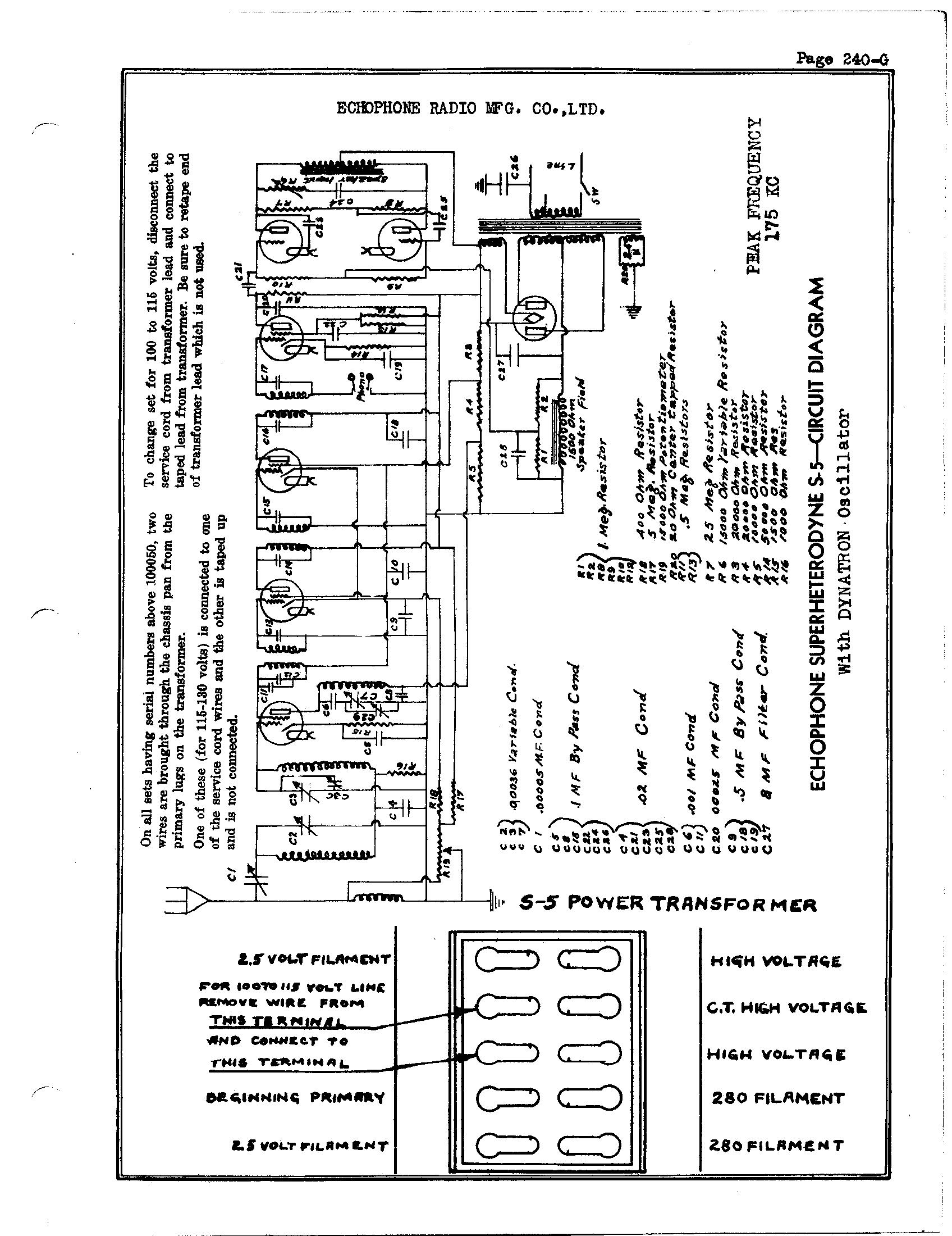 Echophone Radio Corp S 5