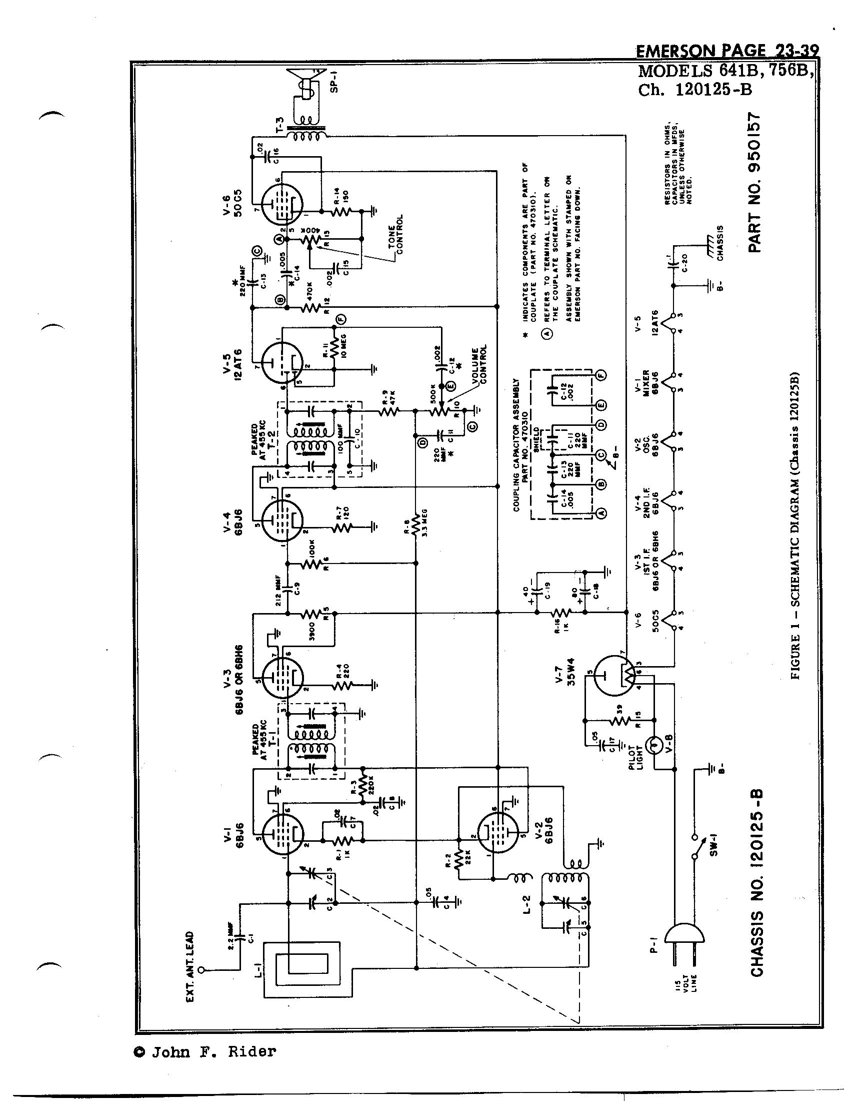 Emerson Radio Amp Phonograph Corp 641b