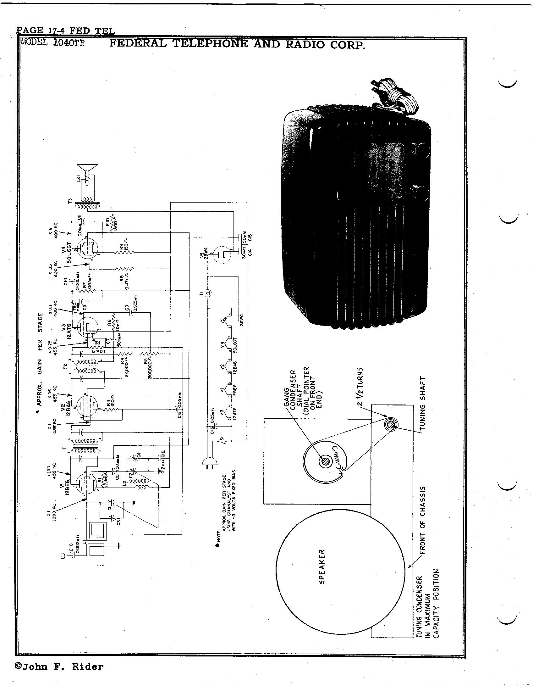 Federal Telephone And Radio Corp Tb