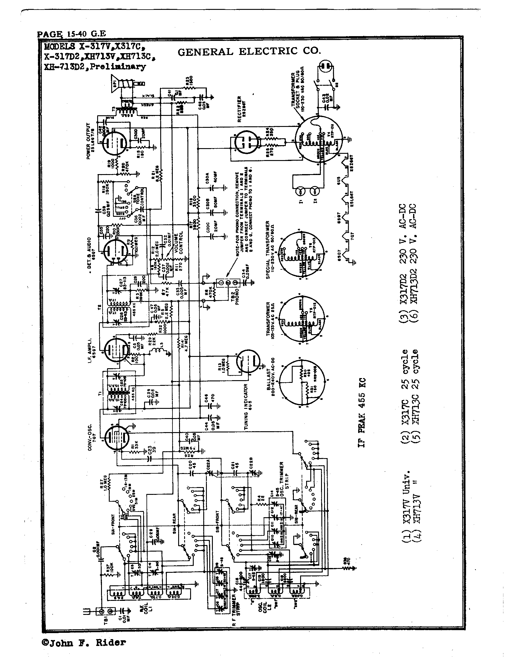 Rs Rca Electrical Schematic Power Supply