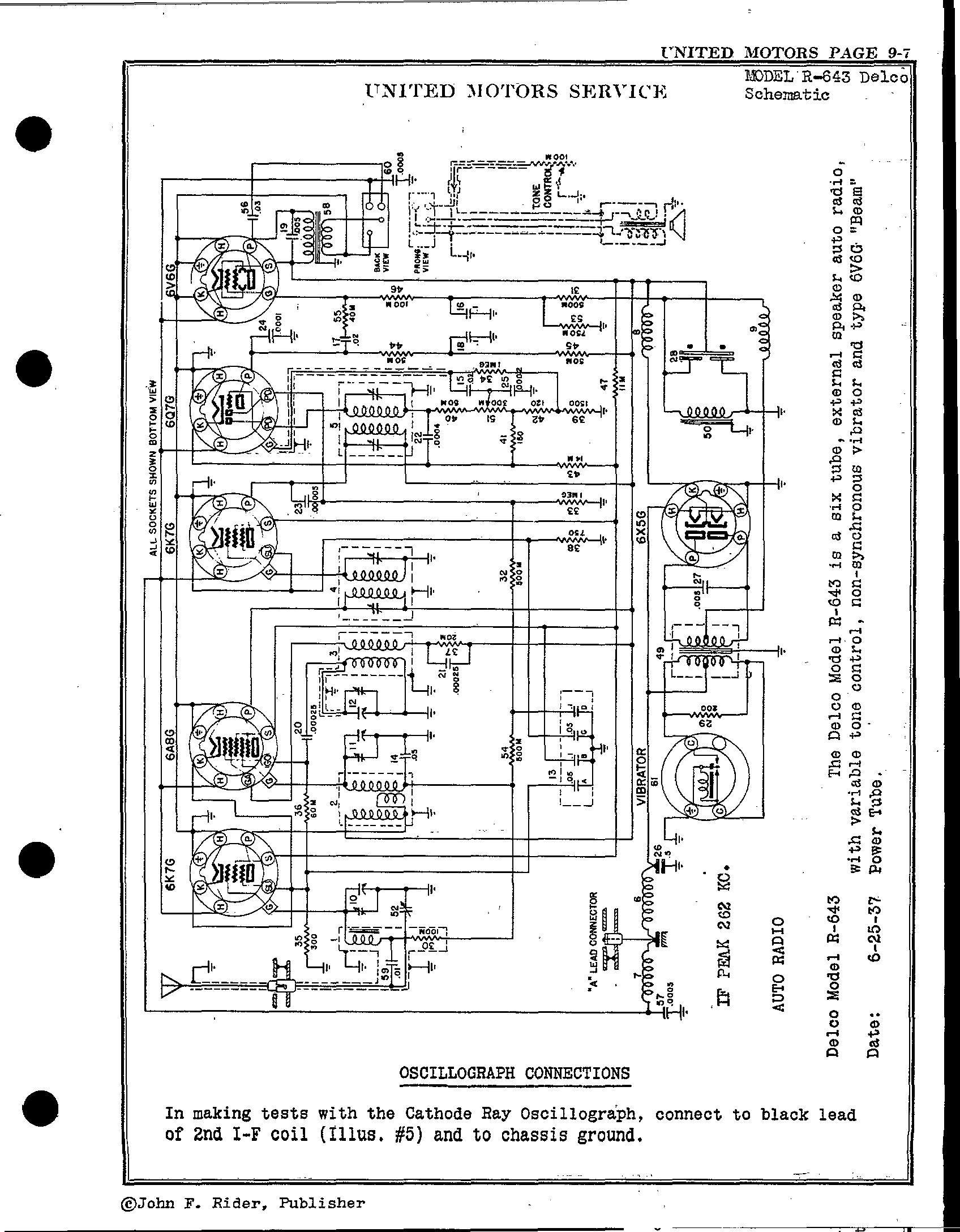 Delco Radio Schematics R