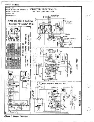 Webster Electrical Corp HMS Teletalk   Antique Electronic