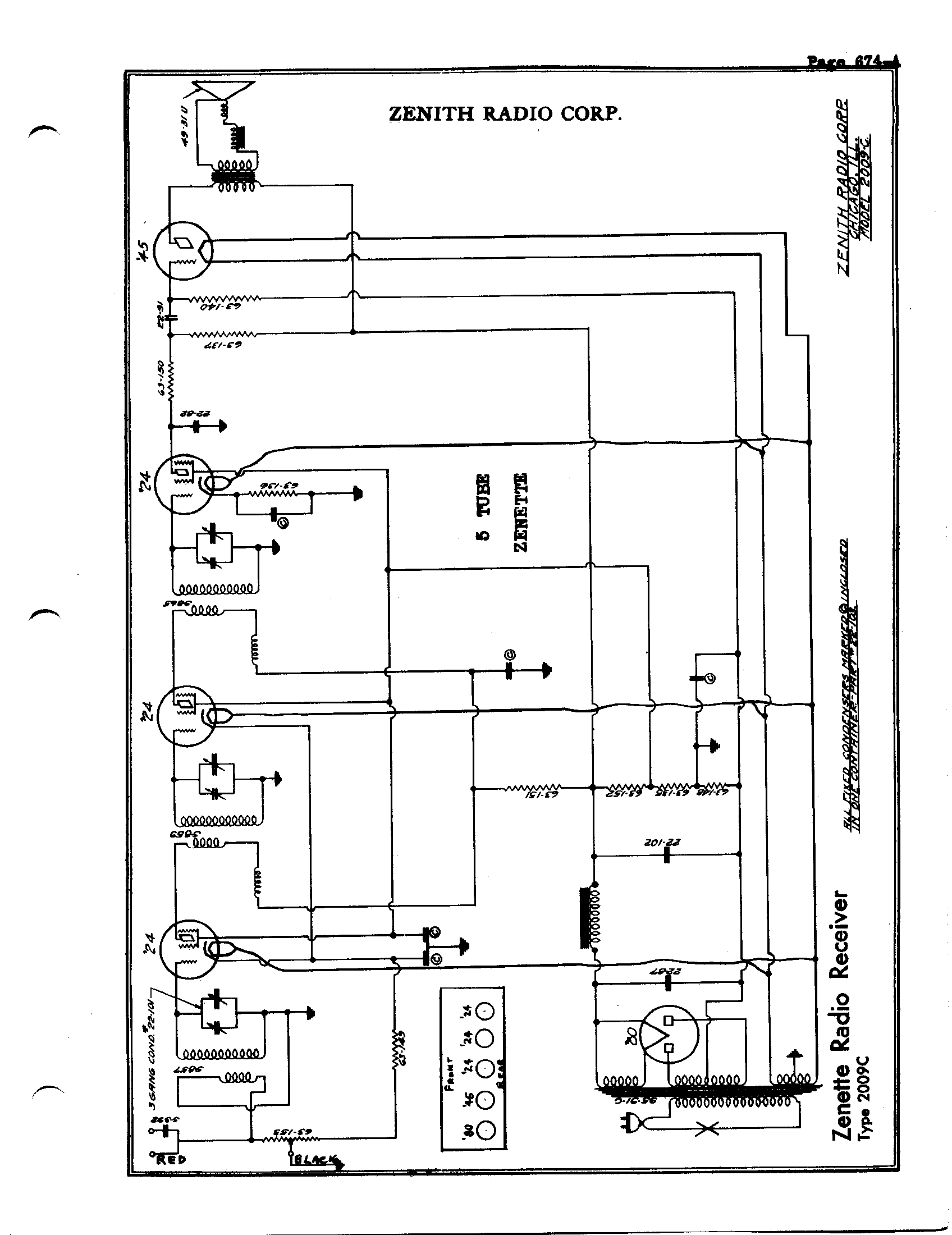 Zenith Clock Radio Schematics