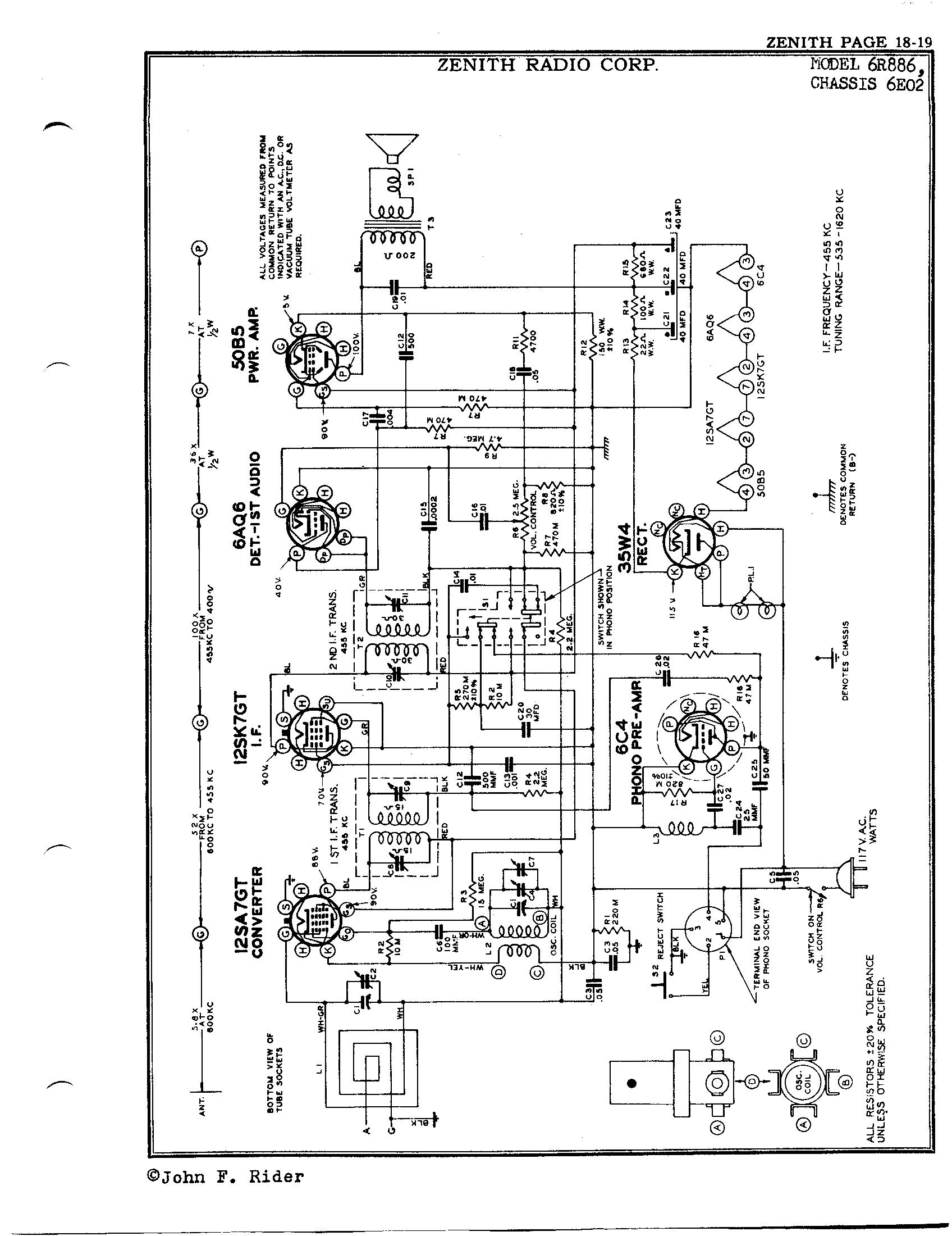 Zenith Radio Corp 6r886