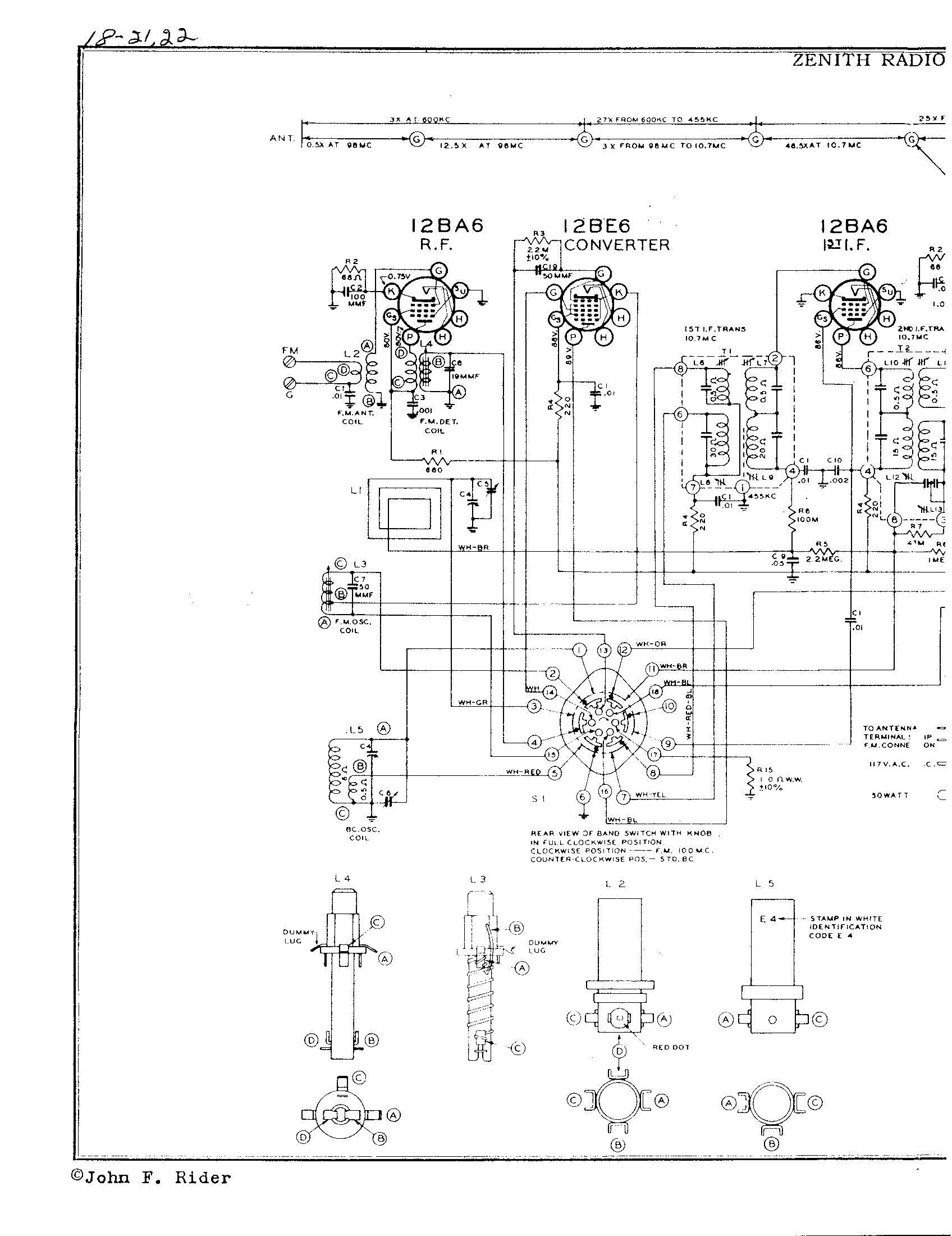 Zenith Tube Radio Schematic