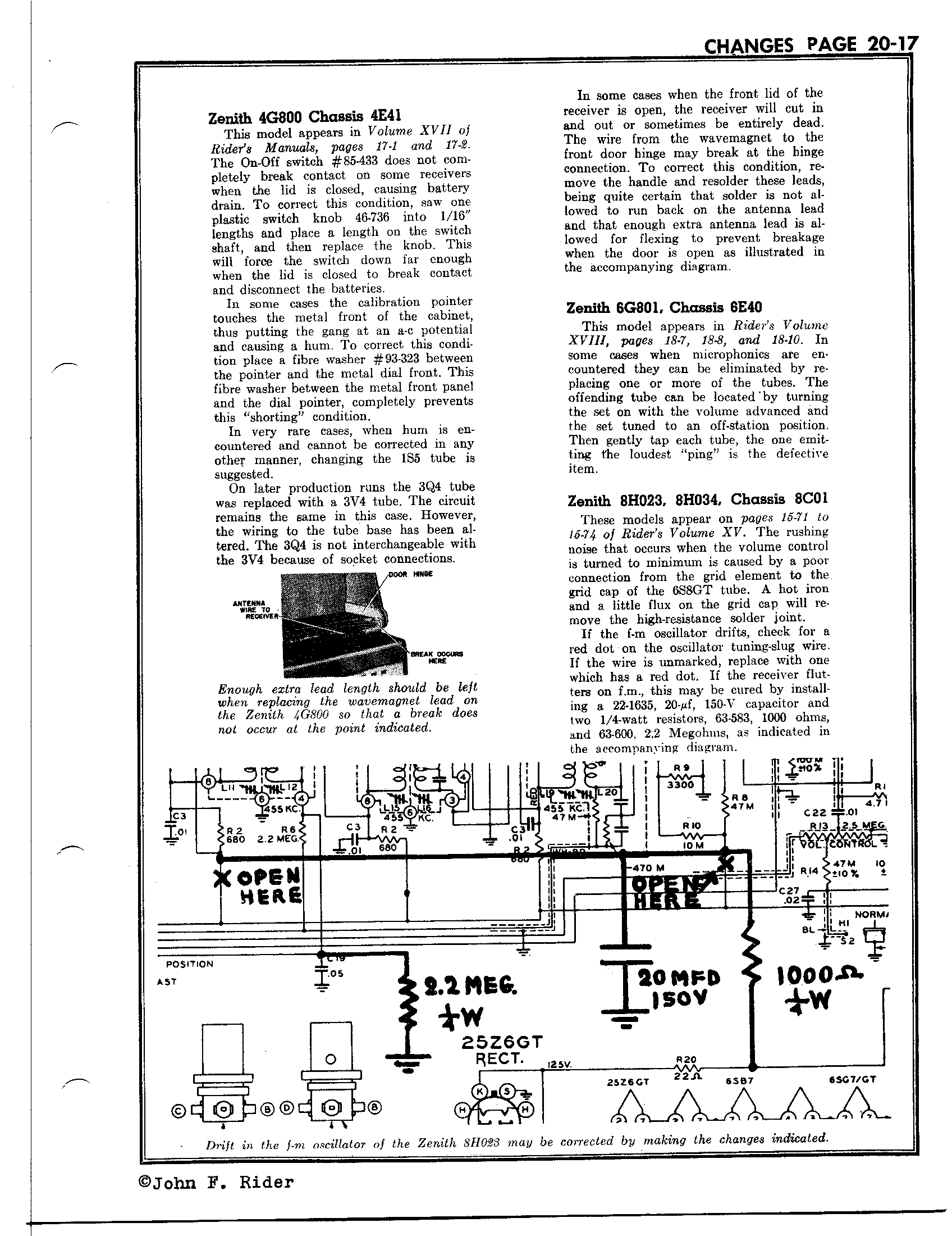 Zenith Radio Corp 8h034