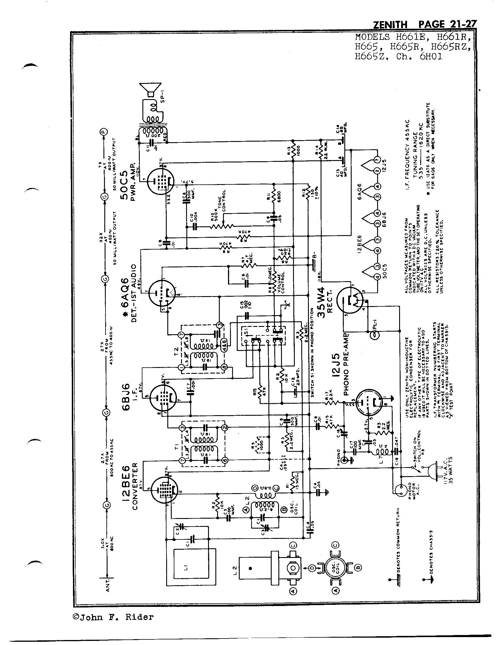 Zenith Radio Corp H665
