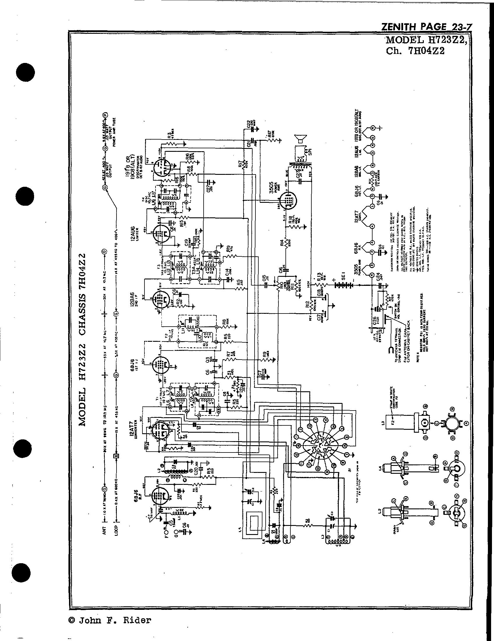 Zenith Radio Corp H723z2