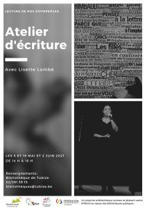 Ateliers d'écriture avec Lisette Lombé – La lecture de nos différences