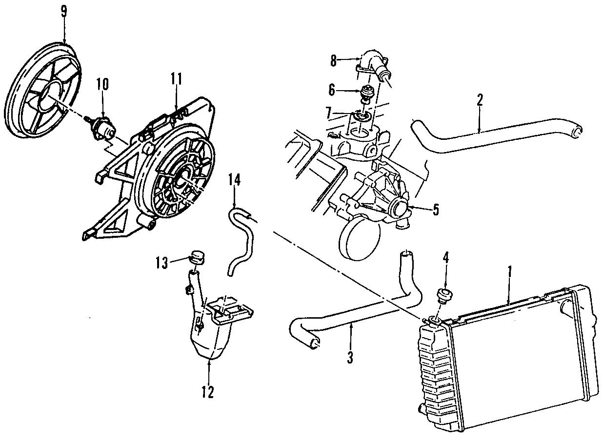 Chevrolet Camaro Pump Water Kit Engine Fan Blade Incl