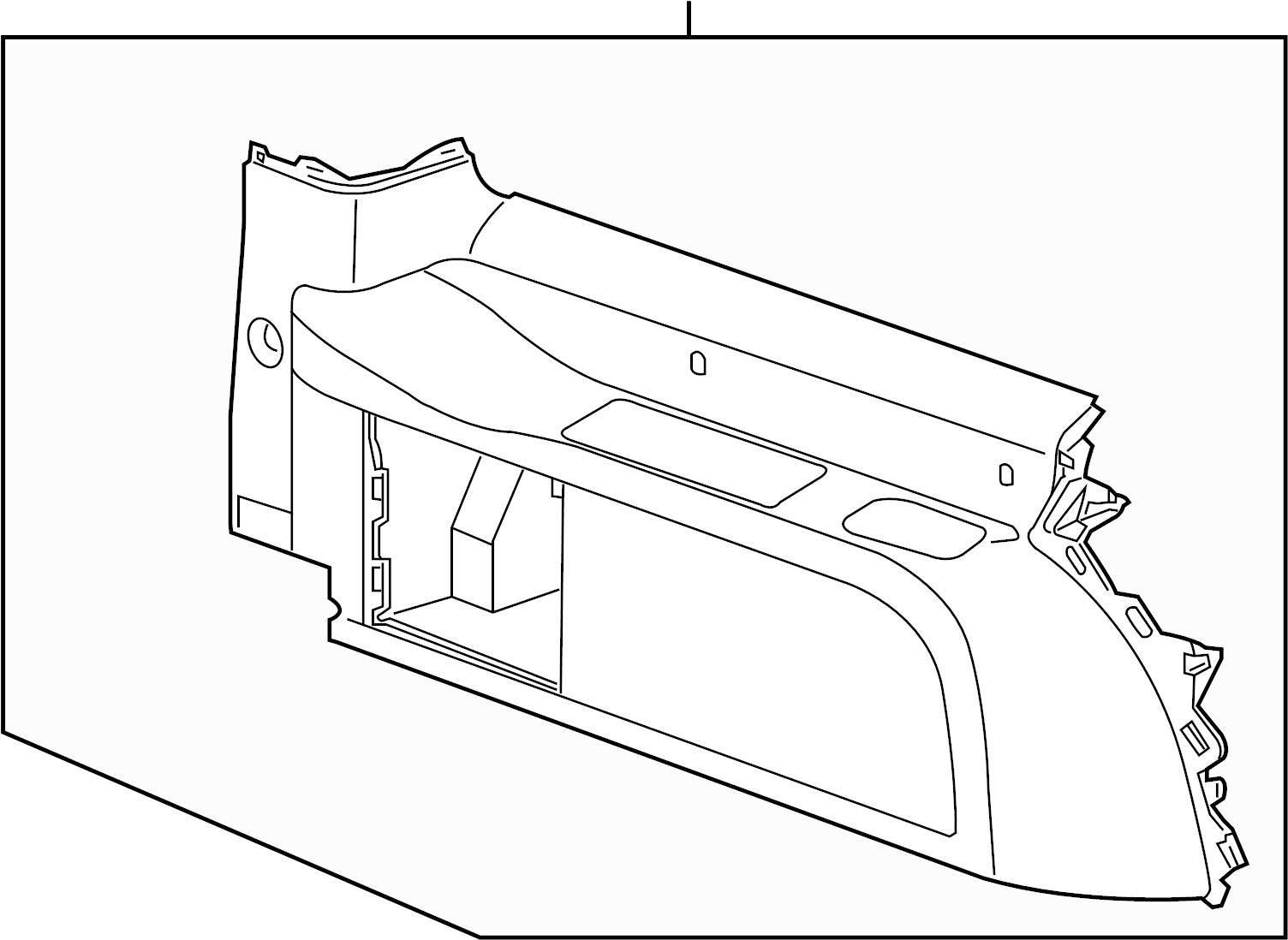 Chevrolet Suburban Interior Quarter Panel Trim