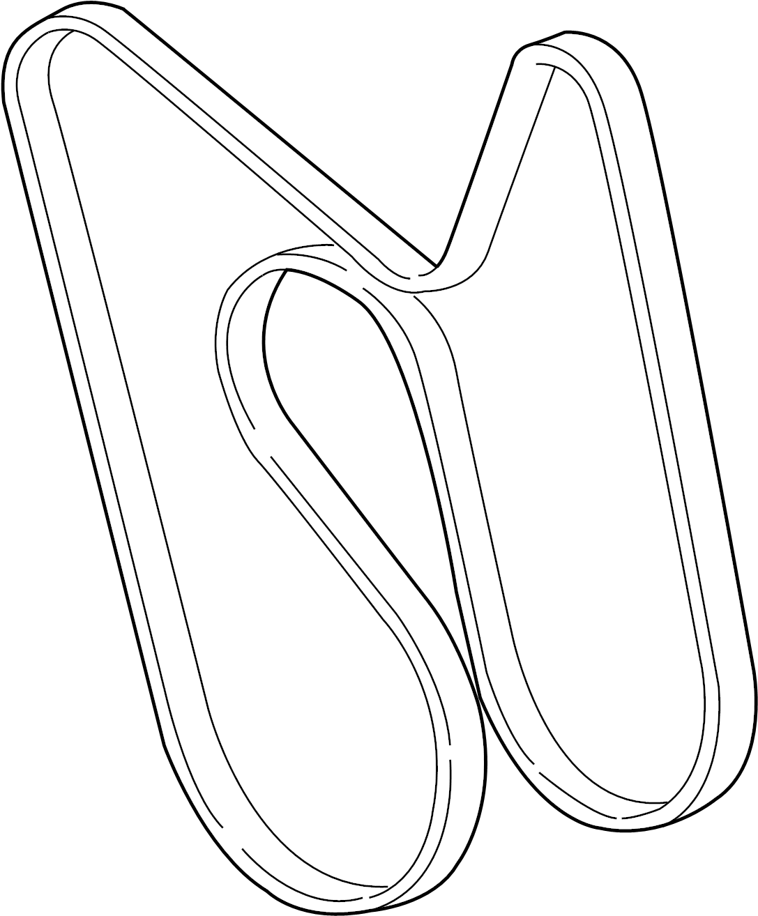 Chevrolet Trailblazer Serpentine Belt Liter Belts Drive