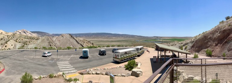 View from Fossil Gallery at Dinosaur National Monument