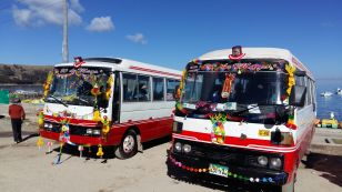 Blessed buses - Lake Titicaca Copacabana Bolivia