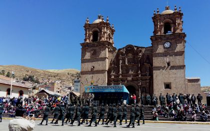 Marching in Puno