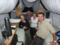 in the skylodge pod Sacred Valley Peru
