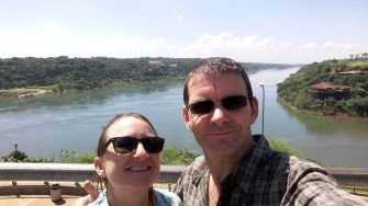 Looking north from Argentina: Paraguay to the left, Brazil to the right
