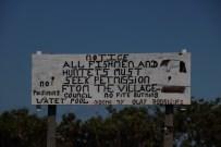 Rupununi village sign
