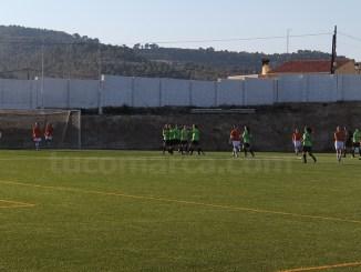 Momento del gol marcado por las jugadoras del Yátova Femenino. Foto: Raúl Miralles Lacalle.