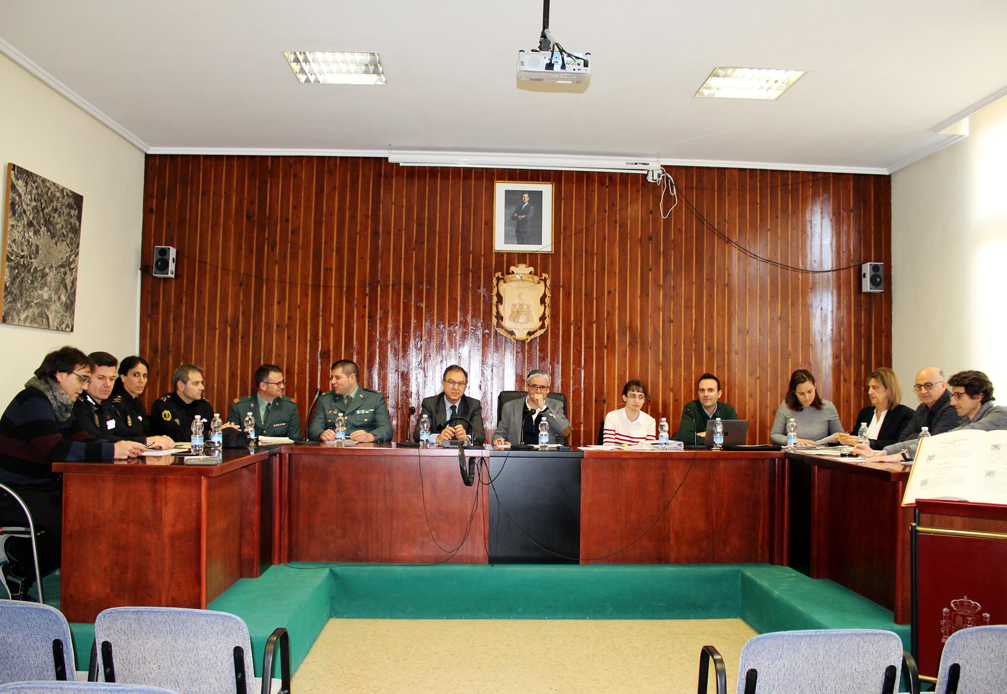 Junta Local de Seguretat de Vilamarxant al Saló de Plens de l'Ajuntament.