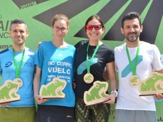 Ganadores del trail y el sprint de Gestalgar. ®Tripixelsport