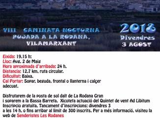 Encara podeu apuntar-vos a l'Ajuntament de Vilamarxant o al web de Senderistes Les Rodanes.