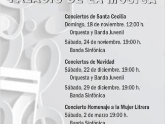 Cartel informativo de los conciertos de abono.