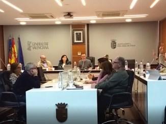 Voto en contra de los concejales de Podemos a la propuesta.
