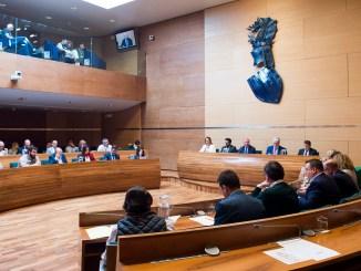 Una sesión plenaria de la Diputació de la anterior legislatura.