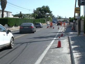 Avanzan a buen ritmo los trabajos en la carretera CV-336 que discurre dentro del término de l'Eliana y que conecta los municipios de San Antonio de Benagéber y Riba-Roja de Túria.