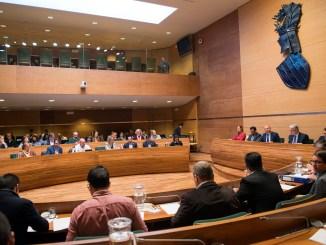 Reunión del plenario de la Diputació de València.