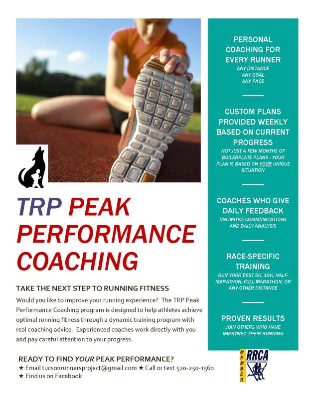 TRP Peak Performance Coaching Flyer