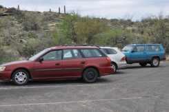 cars parked at Saguaro National Park EAST