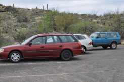 cars parked at Saguaro National Park EAST
