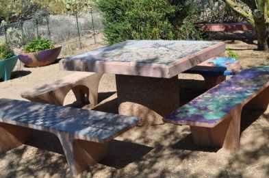Case Park mosaic table
