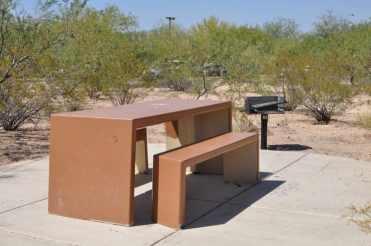 Purple Heart Park unshaded picnic table
