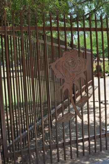 Rose Garden Gate at Gene C Reid Park
