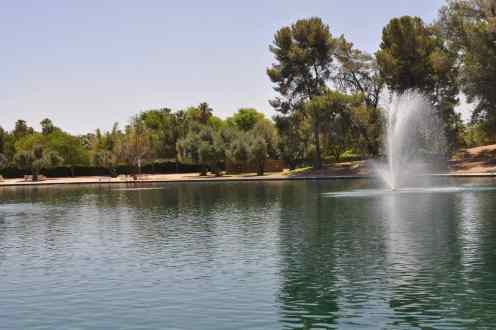 one of two urban lakes at Gene C Reid Park