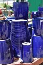 blue pots at Civano Nursery