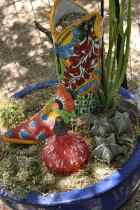colorful boot at Civano Nursery