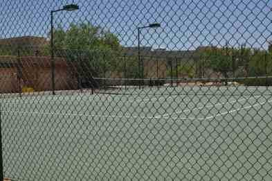 lighted tennis court in Civano