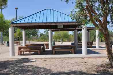 ramadas could use an update at Abraham Lincoln Regional Park