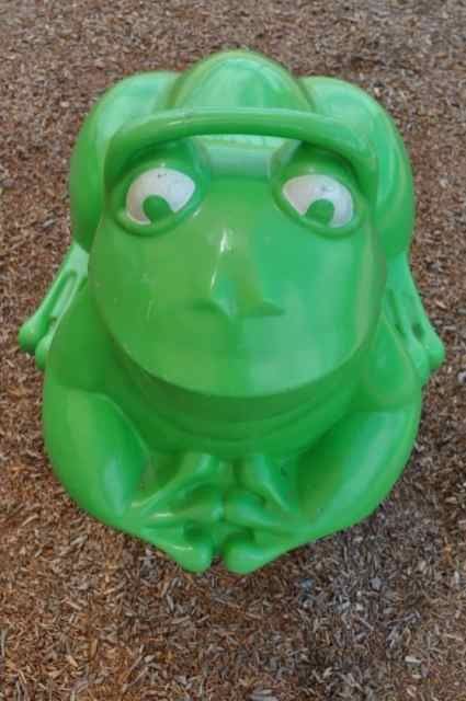 ride-on bouncy frog at Coyote Creek playground