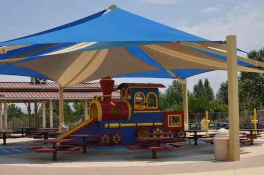 train picnic area at Rancho Sahuarita