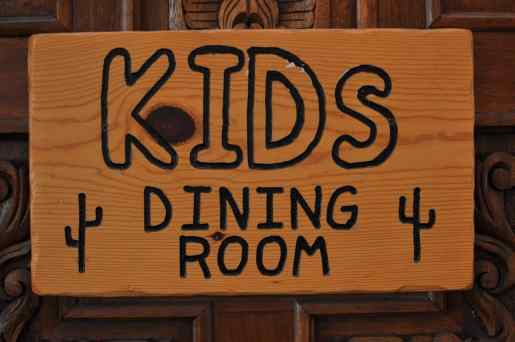 Tanque Verde Ranch has a separate Kids Dining Room