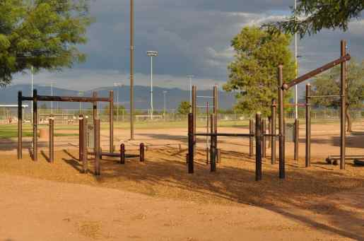 exercise equipment at Morris K Udall Park