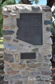 Plaque at Fort Lowell Park