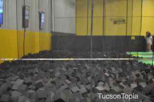 flip into a foam pit at Get Air Tucson